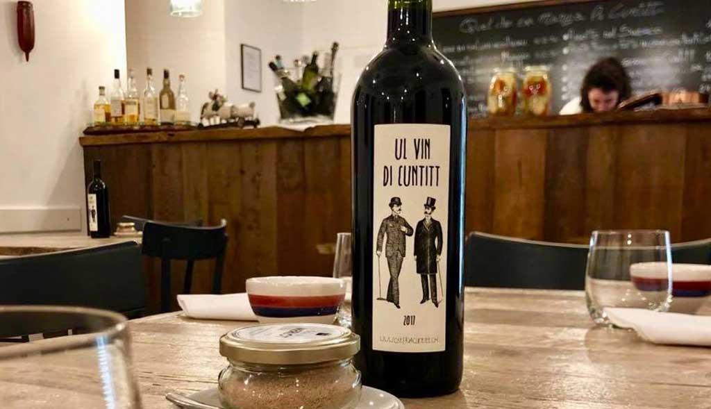 Osteria Enoteca Cuntitt etichetta vino